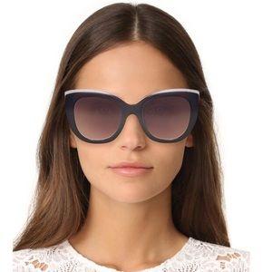 NWT Alice + Olivia Mercer Sunglasses, Black White
